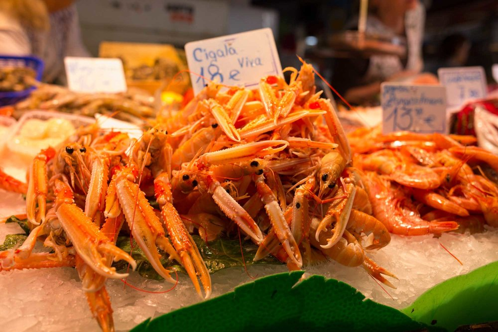 2014 — Fresh seafood at the Mercat de la Boqueria
