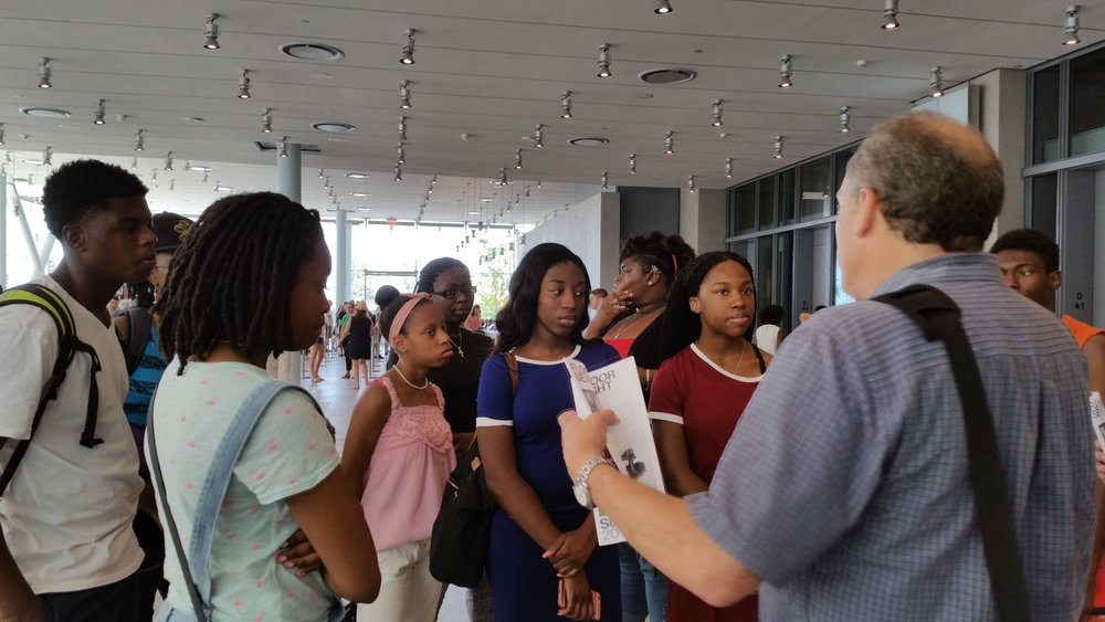 """IAM!"" course Instructor, Donald Ostrow, speaks to Dreamers at the Whitney Museum."