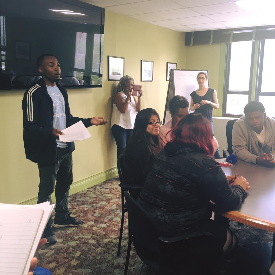 Marcellis Counts, Program Associate at Newark Mentoring Movement (NMM), asking our Dreamers about their Dreams.