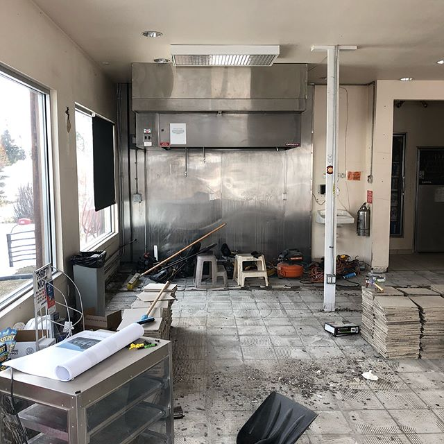 The demolition has begun! Give our sister project  @rations_eats a follow to watch our progress from remodel to opening day!