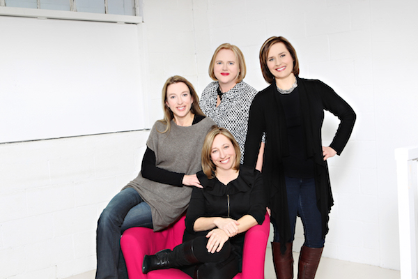 Julie Cole (Far Left) with her Three Fellow Co-Founders of Mabel's Labels