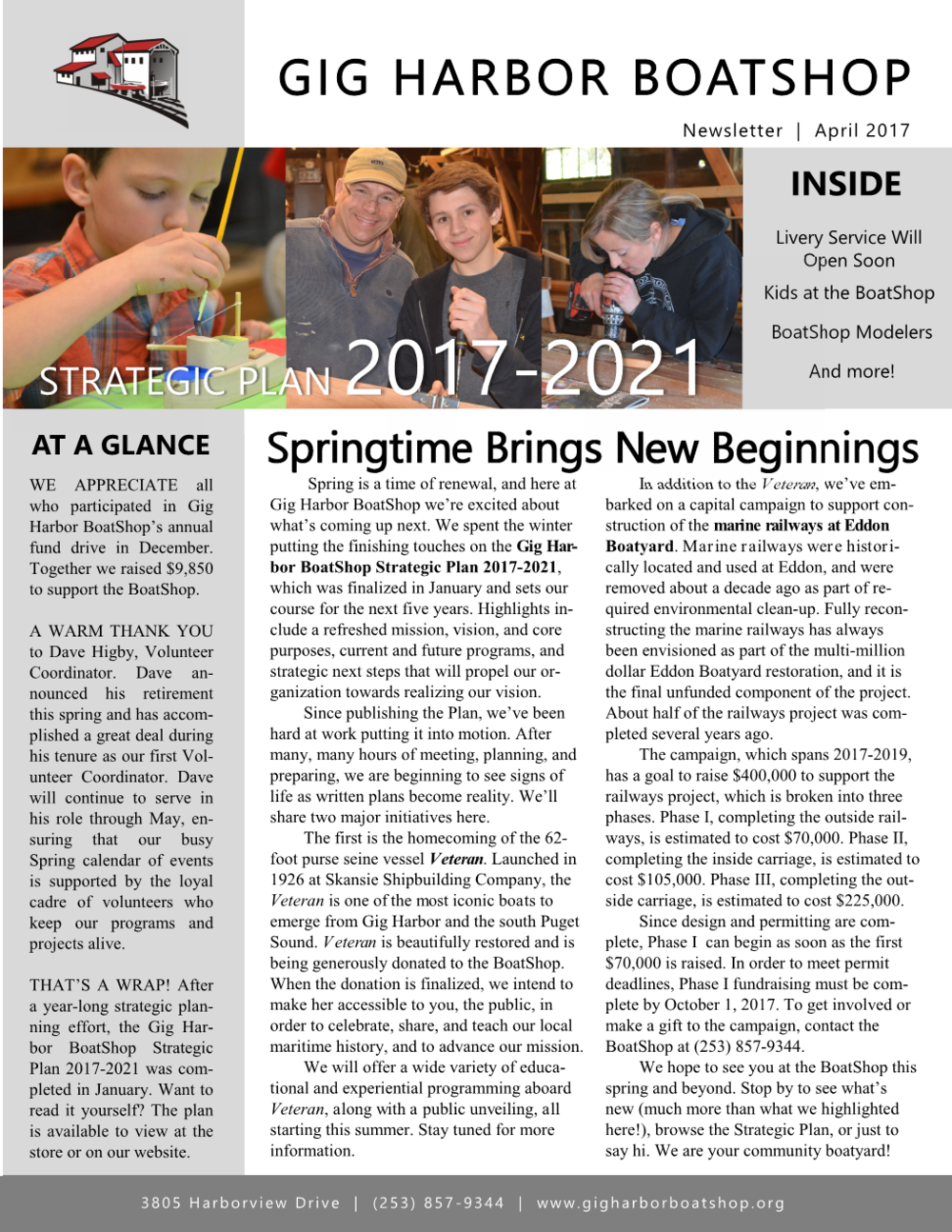 April 2017 Newsletter (click on image to enlarge)