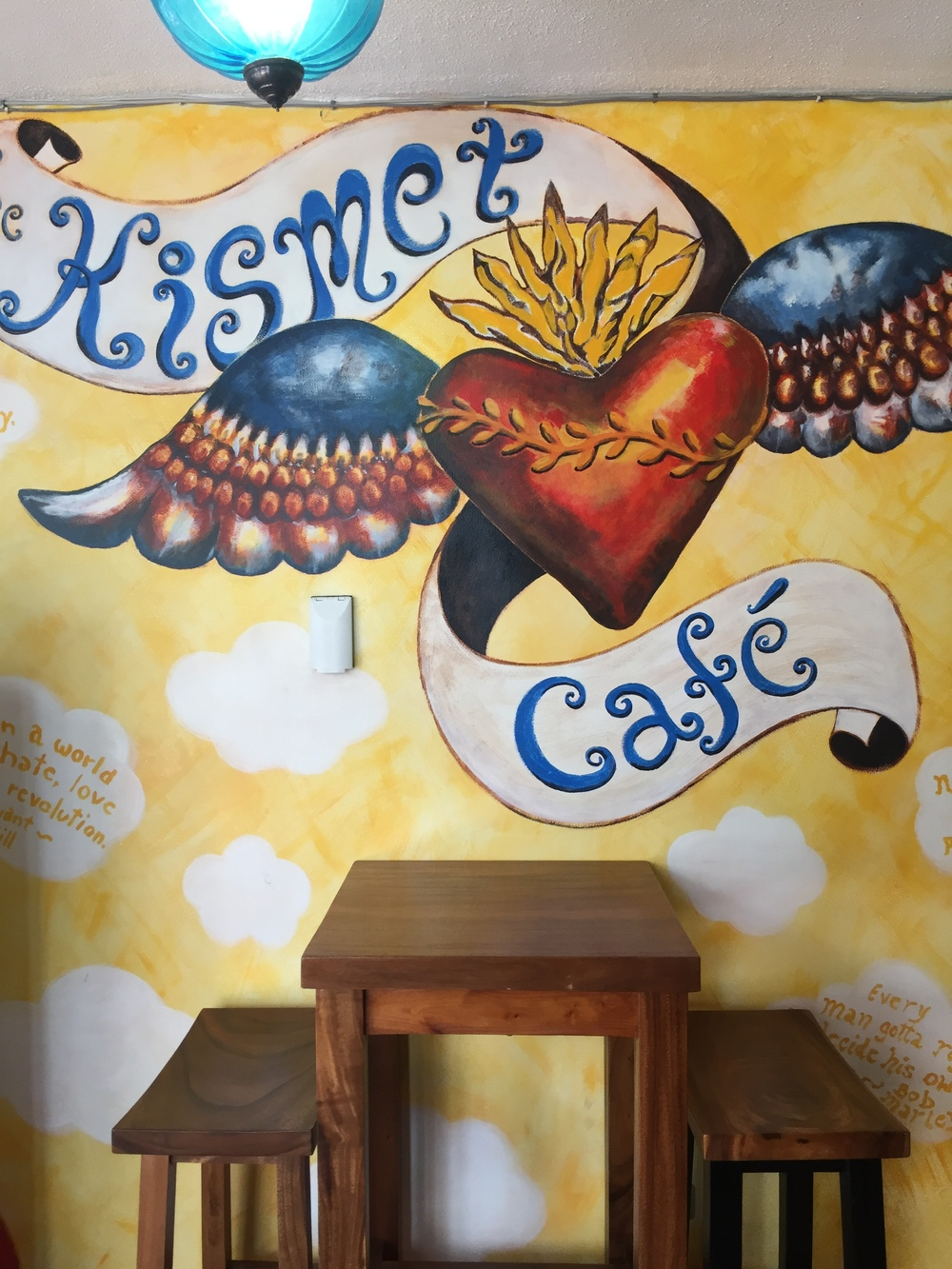 Beautifully, illustrated Kismet Cafe