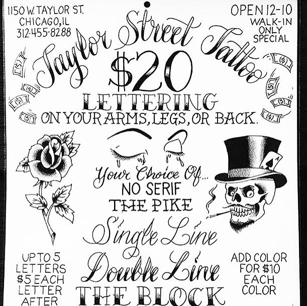 20 Tuesday Taylor Street Tattoo Co