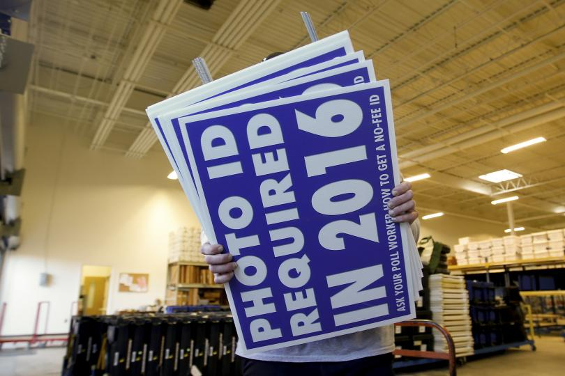 Mecklenburg County Board of Elections warehouse in Charlotte, North Carolina, Nov. 5, 2014.    PHOTO: REUTERS/CHRIS KEANE