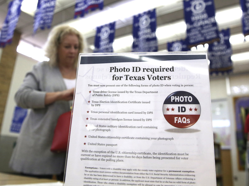 "In her second ruling on the Texas Senate Bill, U.S. District Judge Nelva Gonzales Ramos said changes made to 2011 voter ID law did not ""fully ameliorate"" its ""discriminatory intent.""  LM Otero/AP"