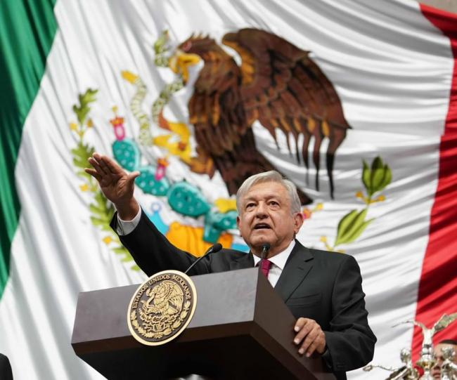 Andrés Manuel López Obrador at the presidential inauguration in Mexico City on December 1, 2018. (lopezobrador.org.mx)