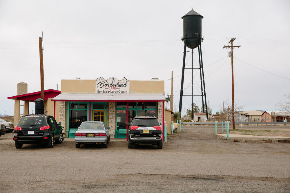 The Borderland Cafe in Columbus, N.M., on Tuesday: Caitlin O'Hara for The New York Times