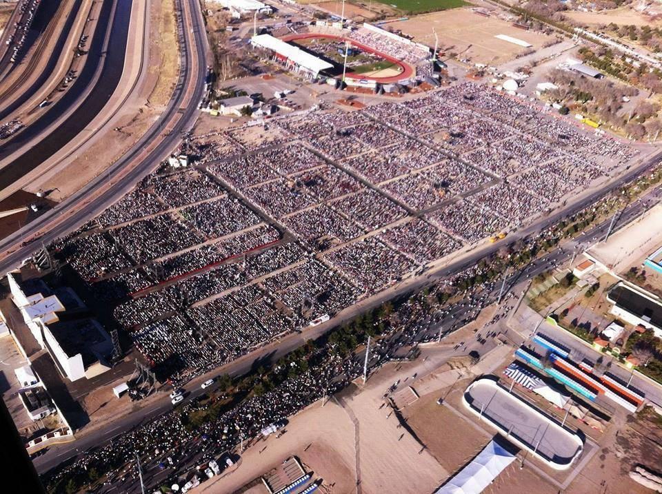 US-Mexico border at El Paso/Ciudad Juarez when Pope Francis visited.