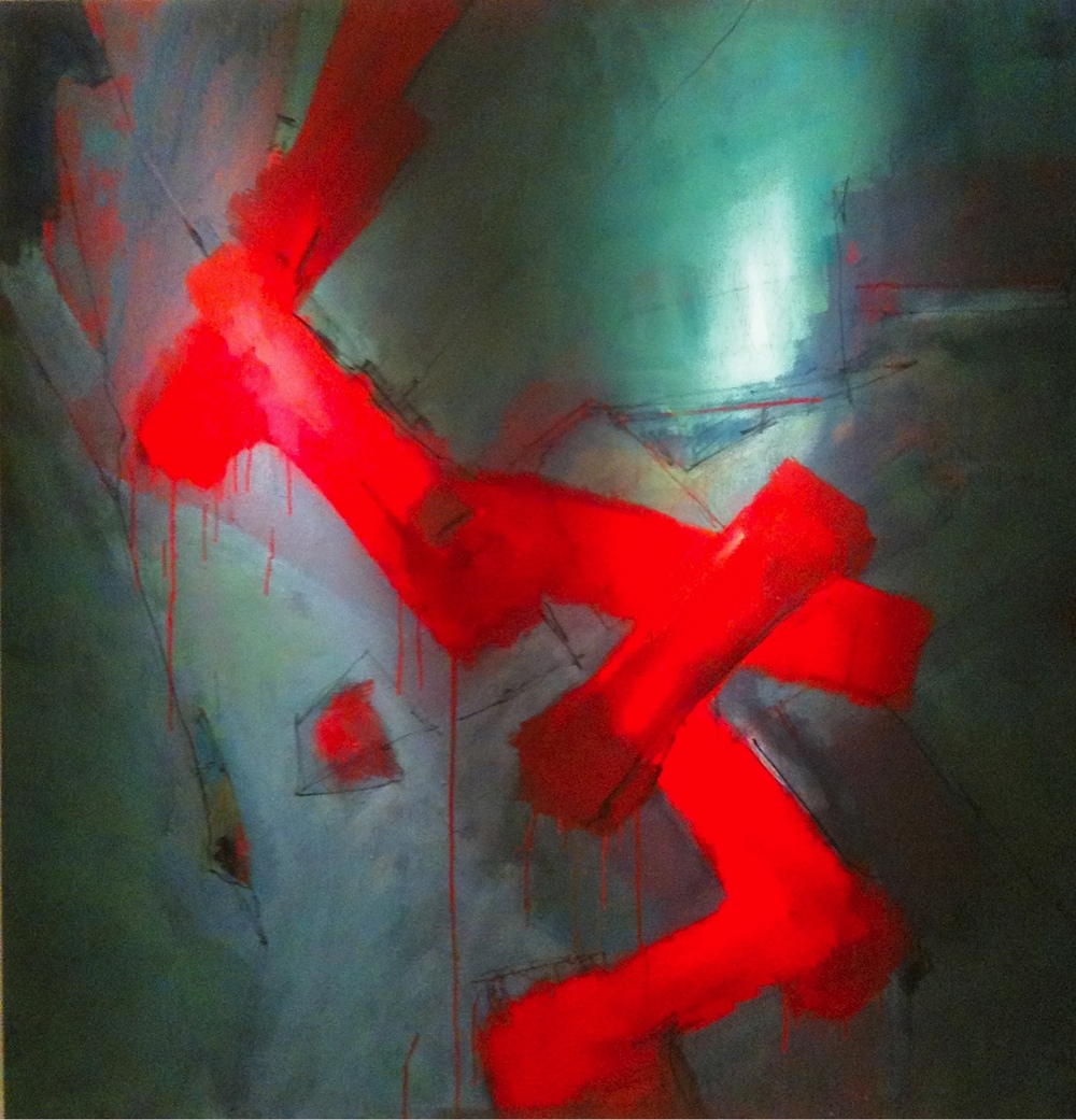 ©Stephen Kennedy- Mix Media Dimentions: 4'X4'  This work resides in a private collection in Rochester, NY