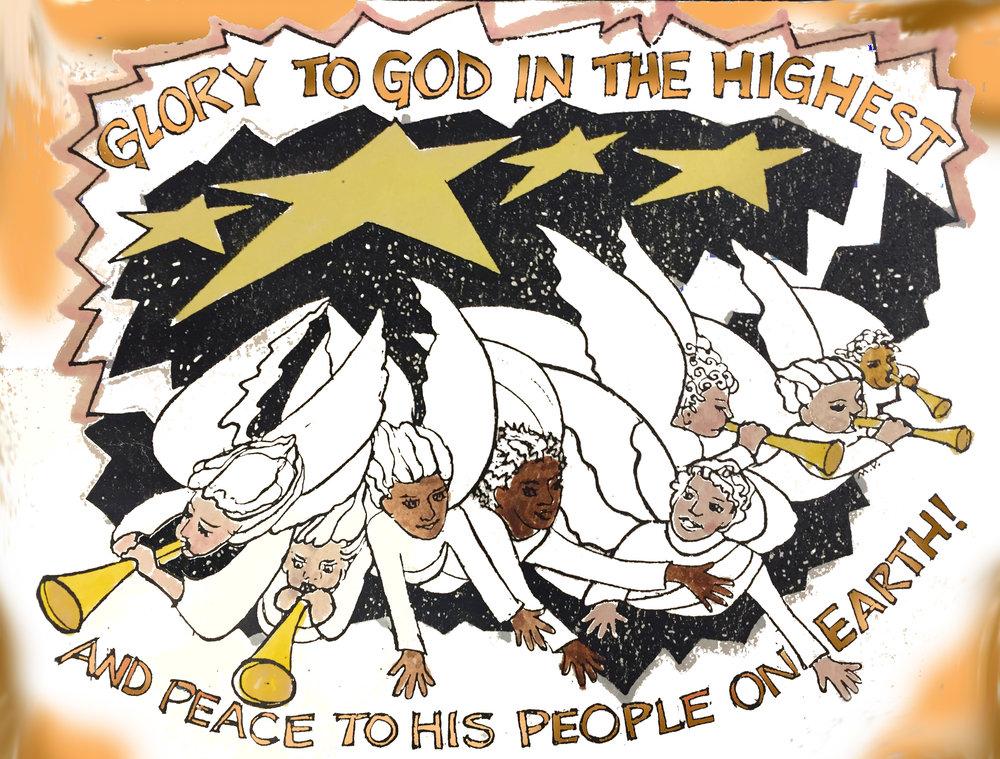 Angels proclaim- M.V. Hill © 1990