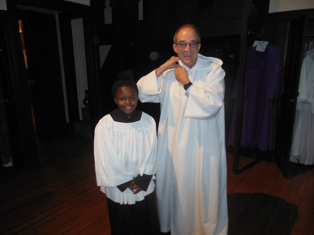 Christ Church, please welcome our NEWEST sub-deacon, Jim Blake, and our NEWEST acolyte, Monesty Howard. Thanks to Jim and Monesty for answering the Appeal for Altar Crew volunteers!