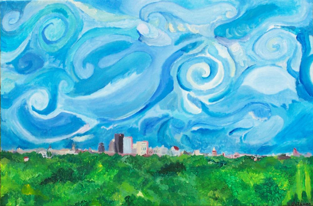 """""""Cobbs Hill"""" Tim Jutsum©2006 acrylic on canvas"""