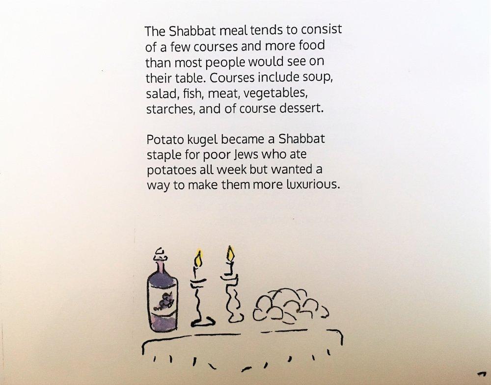 Shabbat meal, inside image