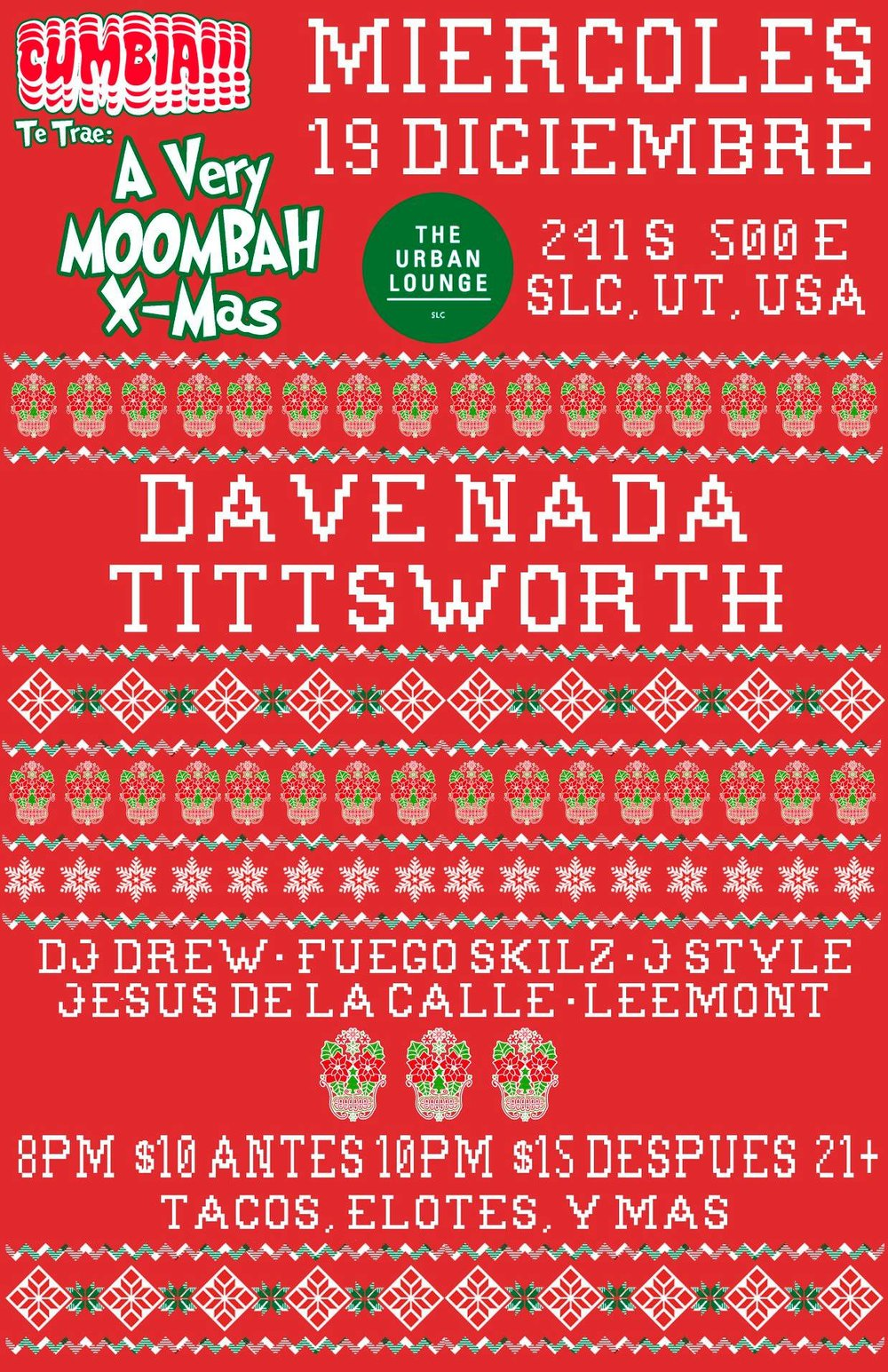 CUMBIA! night featuring dave nada and tittsworth