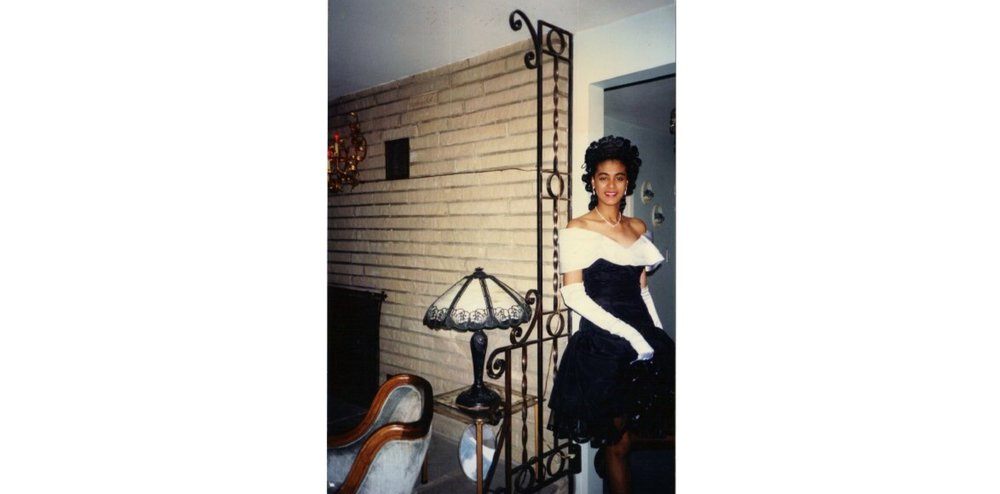 JUNIOR PROM 1991, BENNETT HIGH SCHOOL, BUFFALO NY. Dress made by Mrs. Taggart.