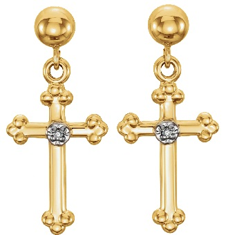 Religious Design Earrings