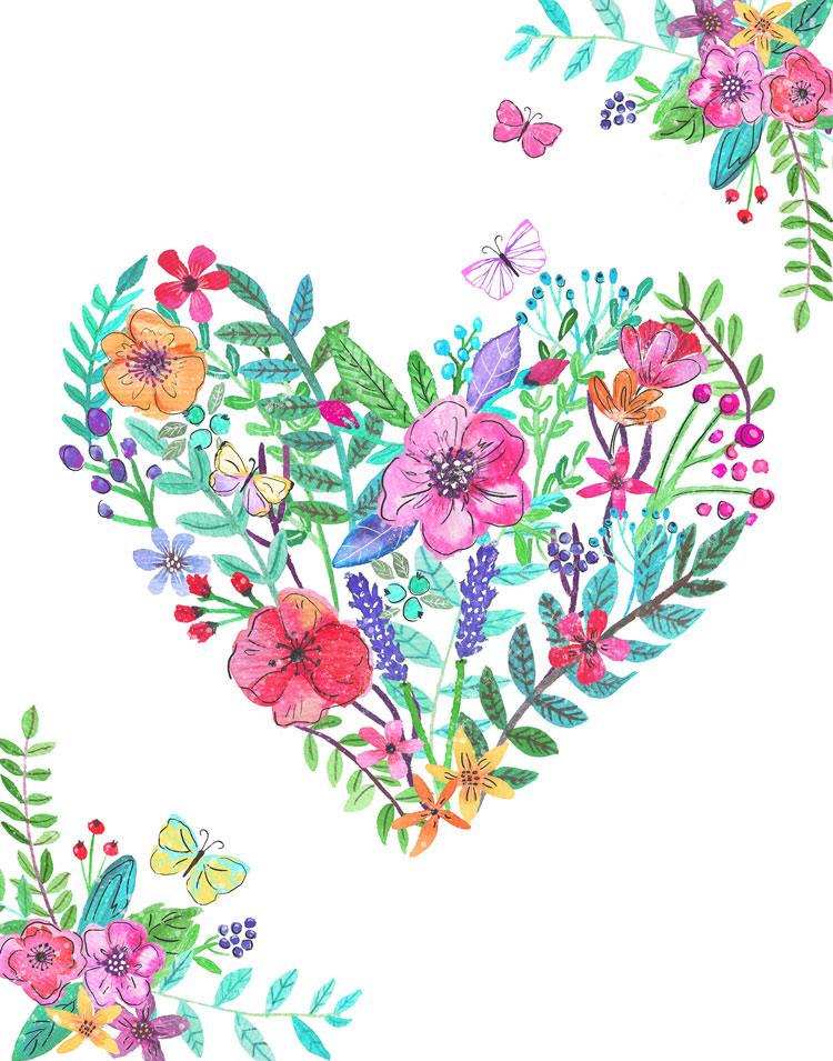 LisaLane-Flower-bouquet-heart-card.jpg