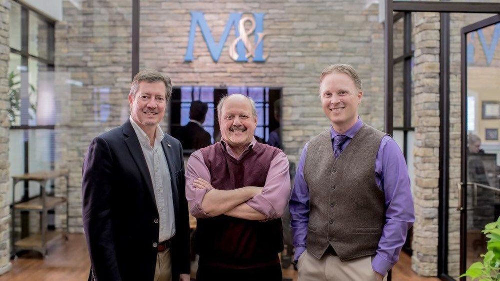 M&I Executive Team. Left to right: Sean Isom (CFO), Jim Umenhofer (CEO), Tyler Smith (President)