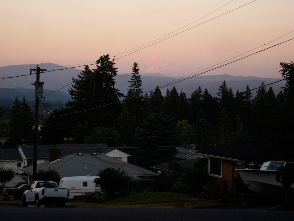 Mount Hood on the horizon, always