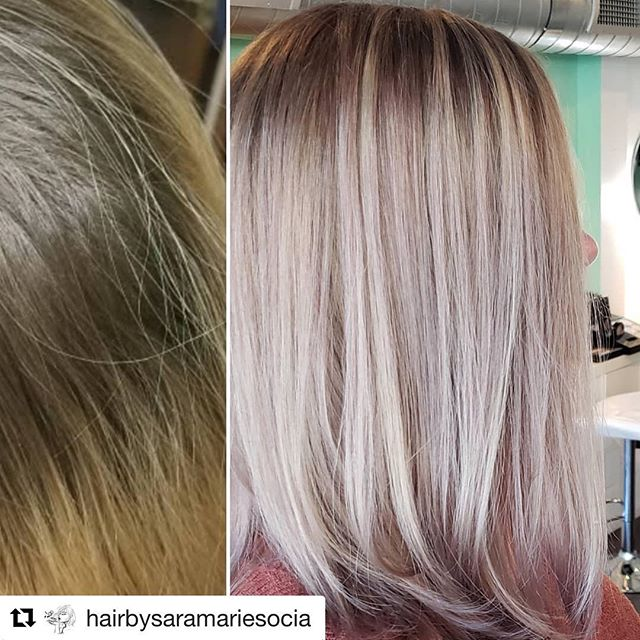 This was so fun and I just love the results! 😍 She had an outgrown all over golden blonde so I balayaged the root area to blend the line of demarcation...then I toned with a dark ash blonde!⠀ By @hairbysaramariesocia .⠀ .⠀ .⠀ #hairbysaramariesocia ⠀ #pearlhms ⠀ #btcpics ⠀ #haircut ⠀ #modernsalon ⠀ #wellacolor ⠀ #olaplex ⠀ #ittakesapro ⠀ #licensetocreate ⠀ #cosmoprofbeauty #hairbrained_official #deepconditioner ⠀ #balayage ⠀ #austinhairstylist
