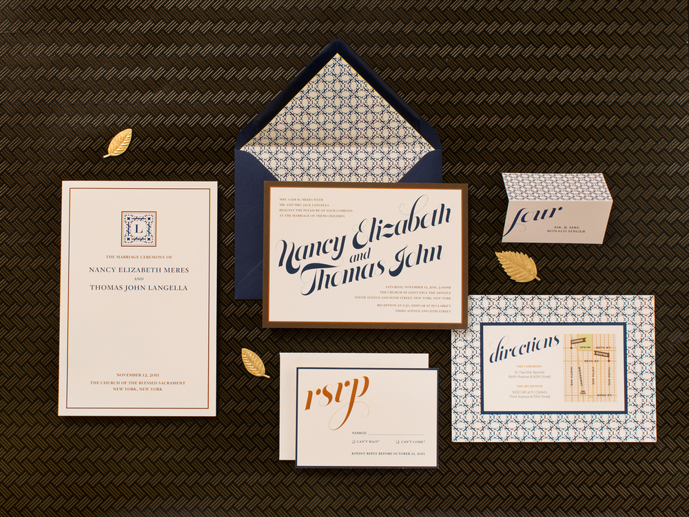 Wedding Stationery - Mosaic Monogram