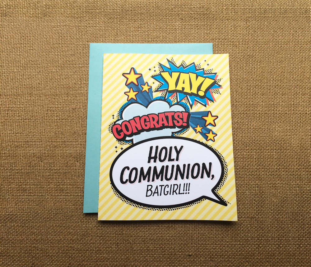 First Communion Greeting Card - by Paper Route Studio