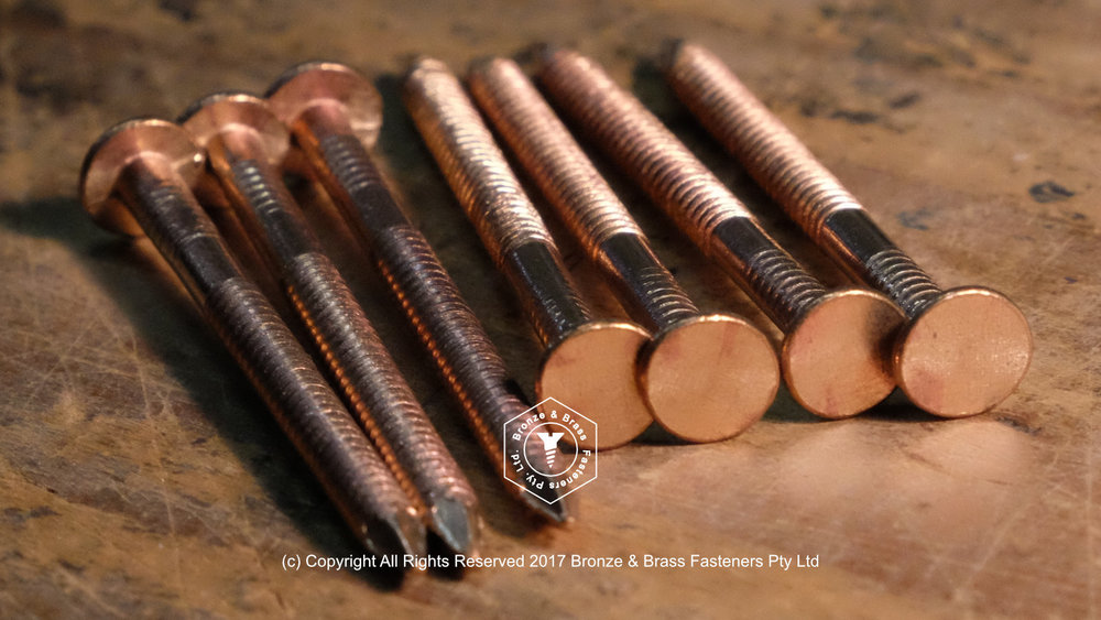 Silicon Bronze Flat Head Ring Nails - Timber Decking