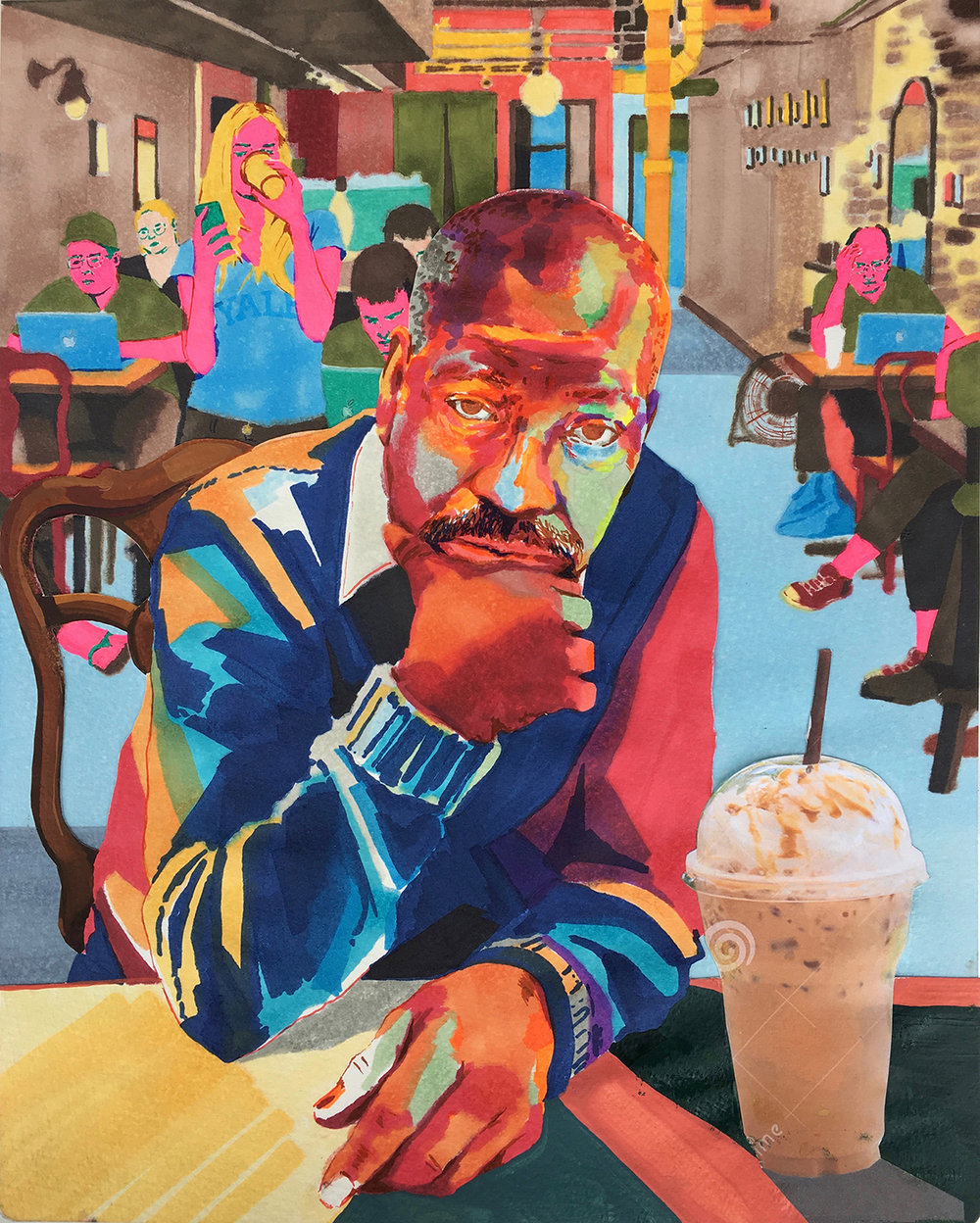 """Jacob Lawrence at a Harlem Cafe: The Great Migration"""