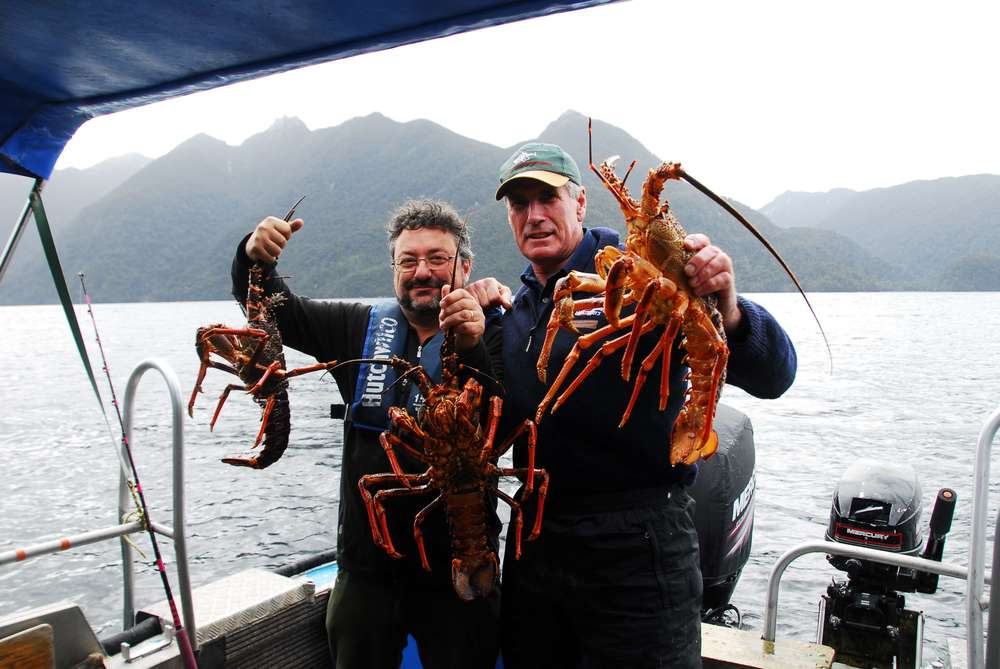 Crayfish in Dusky Sound - Sir Richard Hayes and J-M.JPG