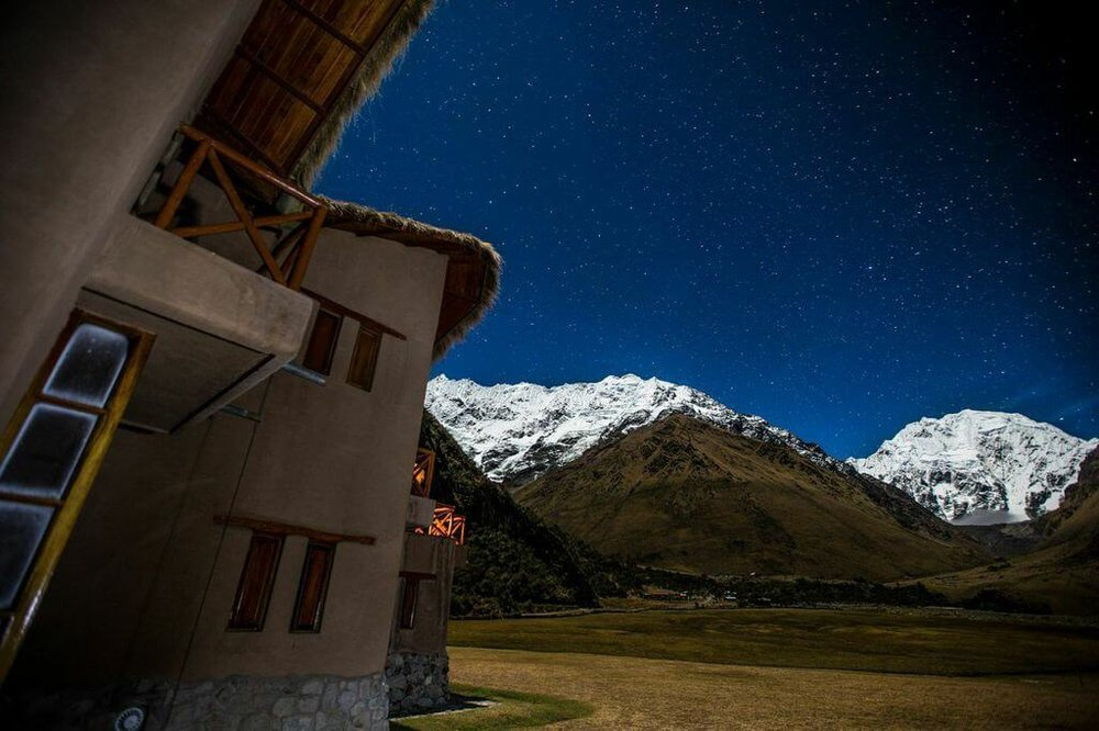 Salkantay Lodge with mt views night.jpg