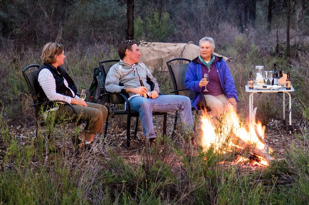 Murray River Walk - River bank campfire.jpg