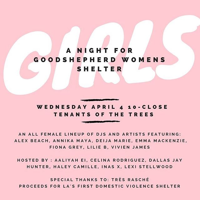 TOMORROW • this event is so important to me and put together by one of my best friends @vivienhjames + a sick line up!! In times like these it's so crucial for women to stick together. We've all dealt with different types of abuse (some worse then others) this is a great opportunity to join your community, raise money for a great cause and have a killer night!! + I'll be performing some songs with @yellowbirddd & @lucyclearwater ✨✨