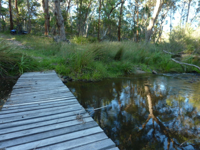 Little bridges invite you to cross the creeks..and discover the forests.