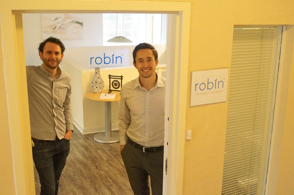 Robin Founders, Noah on the left and Emilio on the right