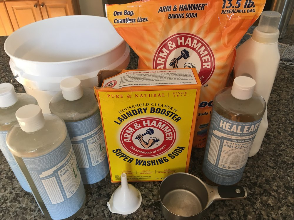 Homemade Natural Laundry Detergent Ingredients
