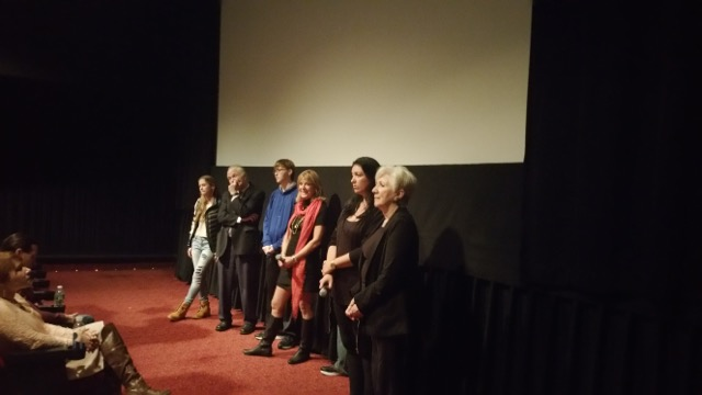 Olympia Dukakis screens with Elaine Vedette and the cast of Hanka's Tattoo at the Big Apple Film Festival October 2015