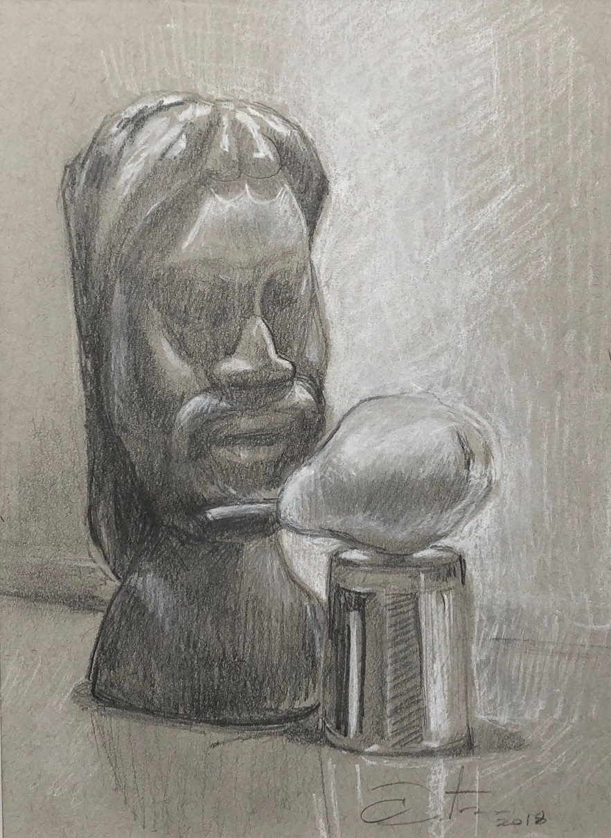 Head with pear