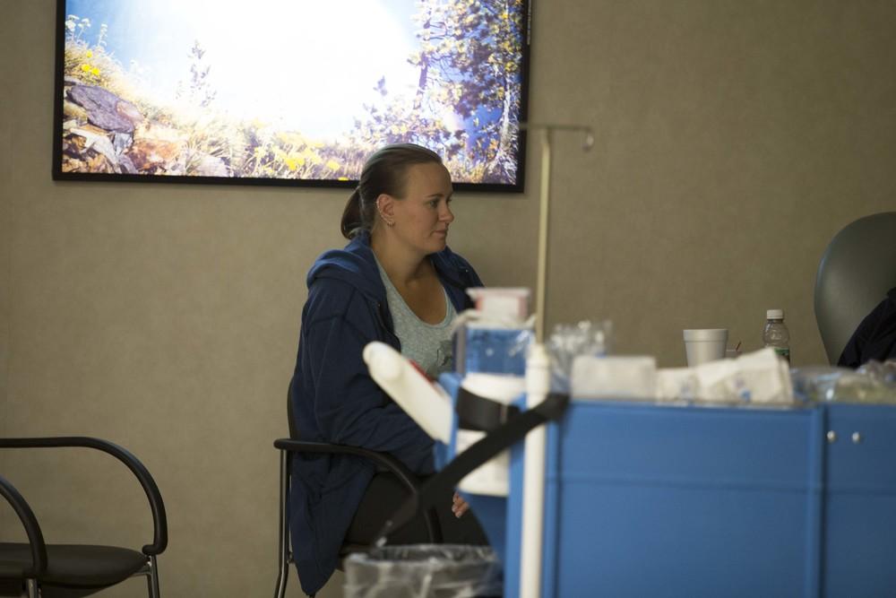 Sarah listens to Nate talk with the nurse