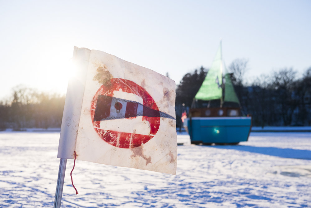 Art Shanties on Lake Harriet -