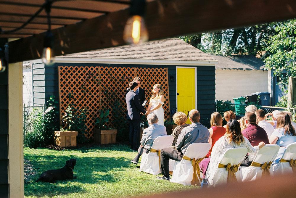 Kelsey & Eric wedding, 35mm film photography