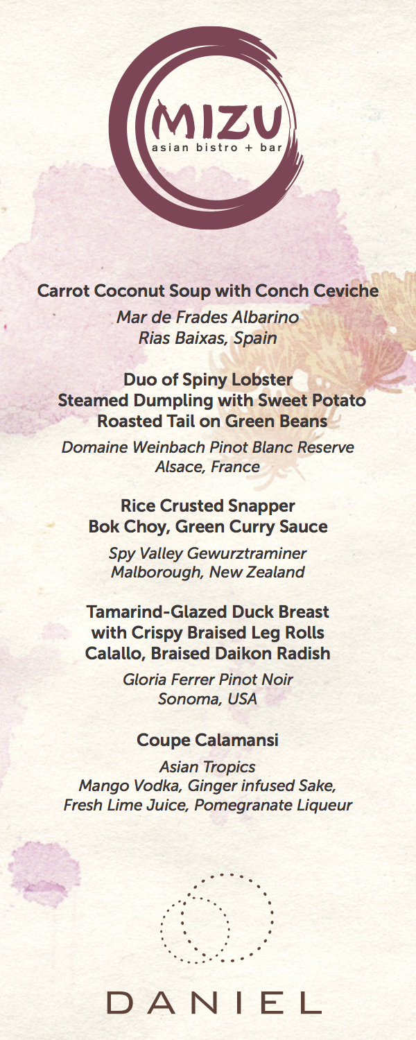 Daniel Boulud Collaboration Menu - Cayman Cookout 2013