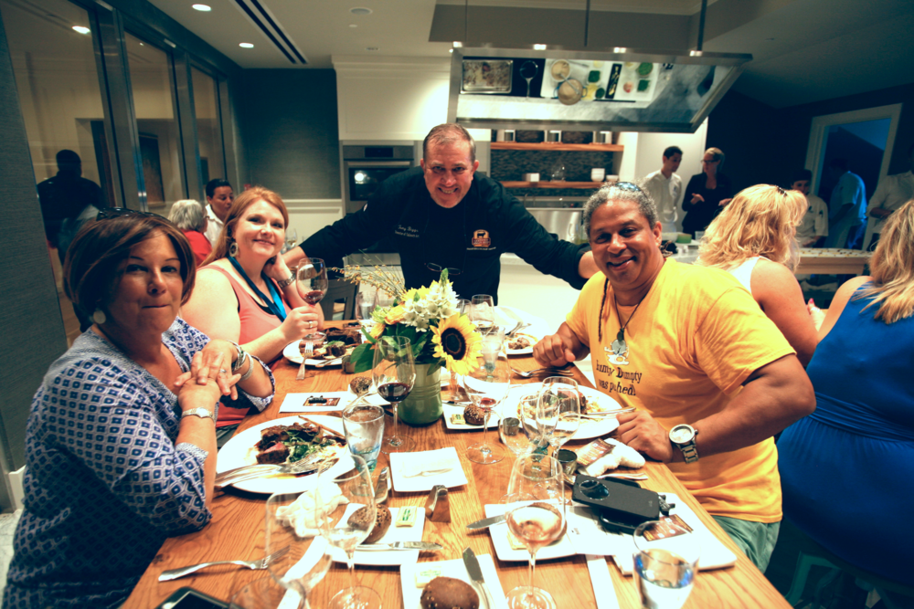 Cindy Hudson, Tara, Chef Tony Biggs, Delius Shirley