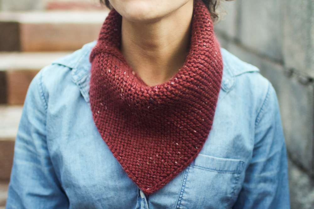 "Cowl: ""Straightforward Cowl"" by Bethany Hendrickson. Yarn: Alpaca with a Twist Highlander."