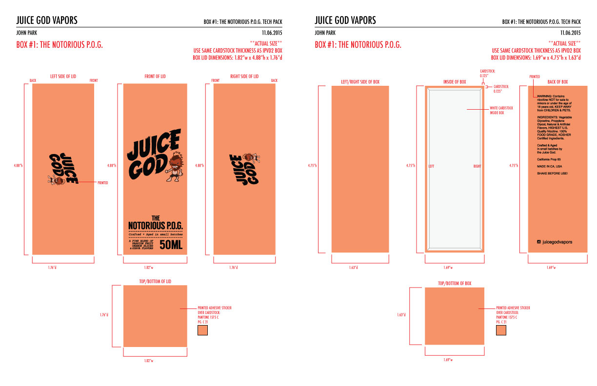 JUICE GOD VAPORS — JPARK CREATIVE