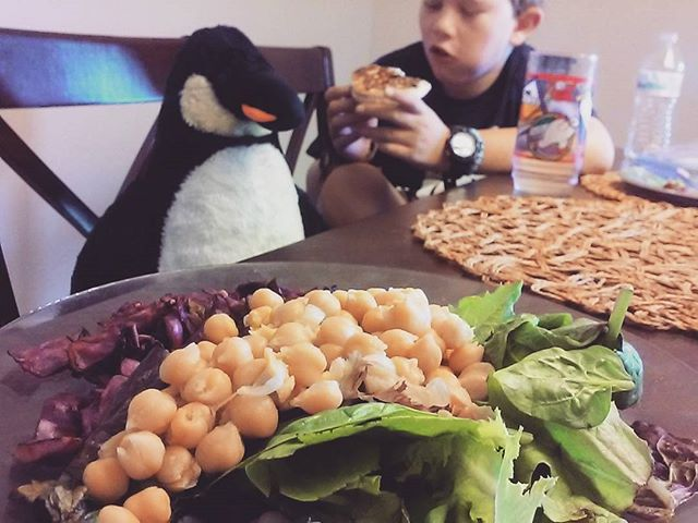 Breakfast time! #vegan #stuffedpenguin