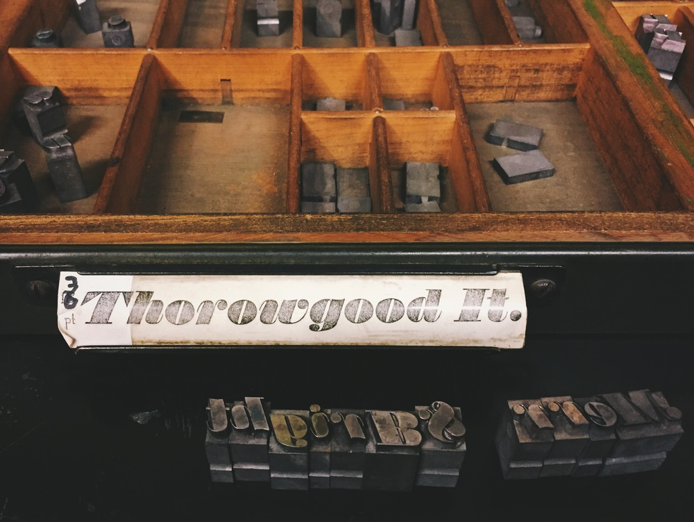 The typeface 'Thorowgood It.' in size 36pt.