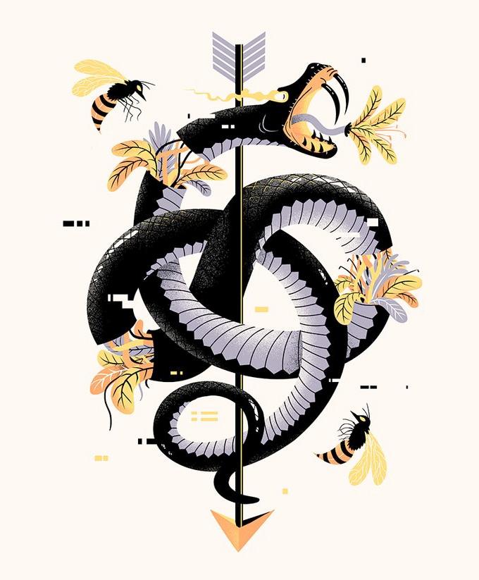 Snake Art