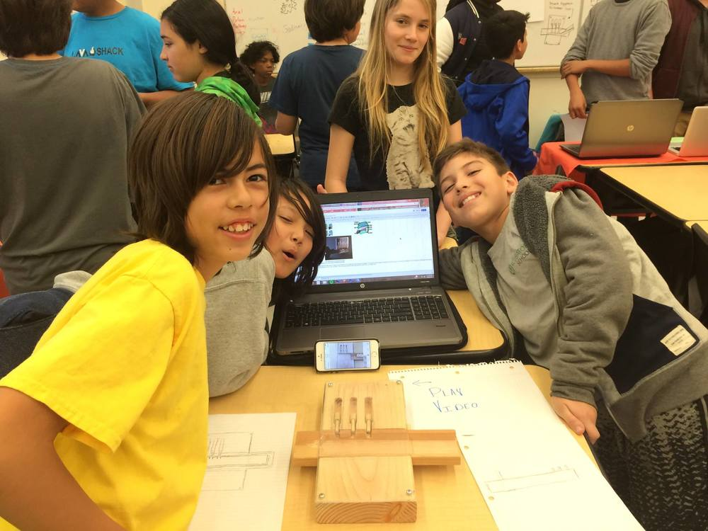 Students at the Incubator School build prototypes.