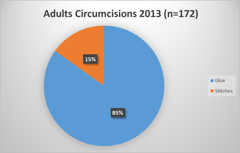 Adult  circumcision audit for 2013 and complications.png